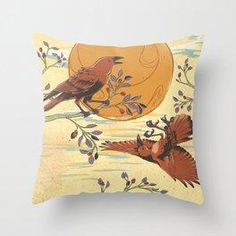JINWU (three-legged crows) Throw Pillow
