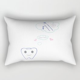 Clean Teeth Rectangular Pillow