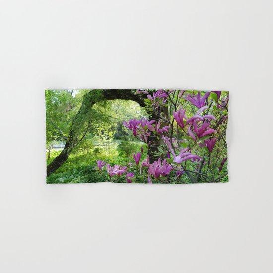 Blooming garden Magnolia Hand & Bath Towel