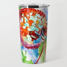 Bright Colored Aquarium Fish, Aquatic Beach Design Discus Travel Mug