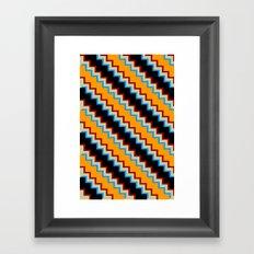 Pixel Contrast Framed Art Print