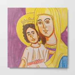 Mary and Child Jesus Metal Print