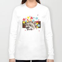 hedgehog Long Sleeve T-shirts featuring hedgehog by Caracheng