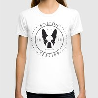 boston terrier T-shirts featuring Boston Terrier by Lulo The Boston Terrier