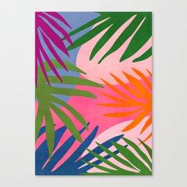 Nature Walk / Abstract Tropical Canvas Print