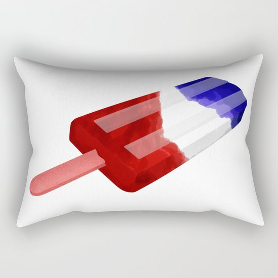 Popsicle Red White and Blue Rectangular Pillow