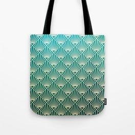 Teal golden Art Deco pattern Tote Bag
