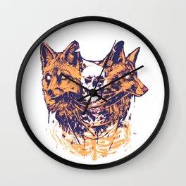 Foxed mind Wall Clock