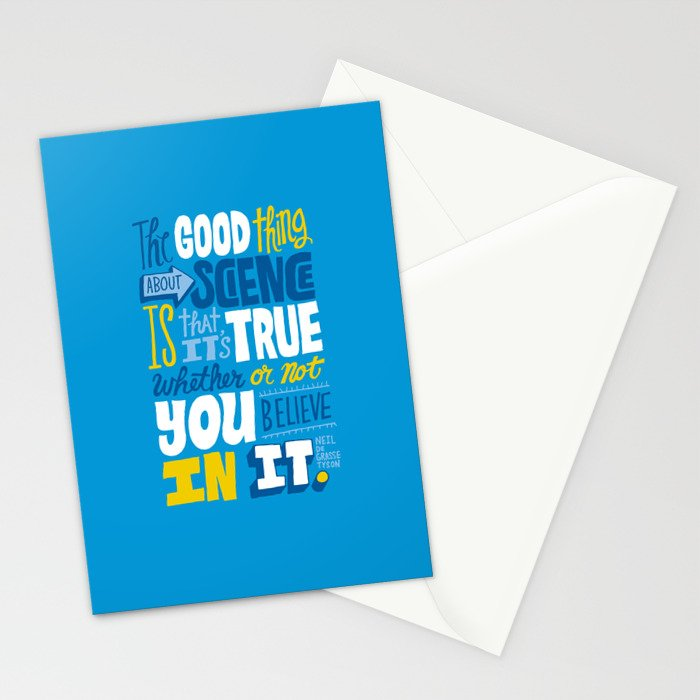 The Good Thing About Science Stationery Cards