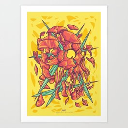 (Des)Integration Series - Yellowskull Art Print