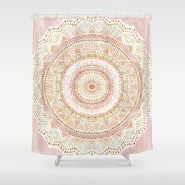 BIG LOVE Rose Gold Mandala Shower Curtain