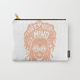 Open Your Mind in orange Carry-All Pouch