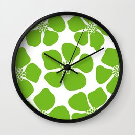 buttercup (green) Wall Clock