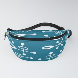 Mid Century Modern Radioactive Surfer 251 Peacock Blue Fanny Pack