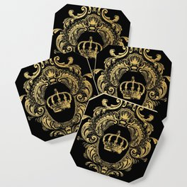 Gold Crown Coaster