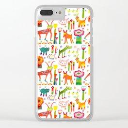Animal Garden Clear iPhone Case