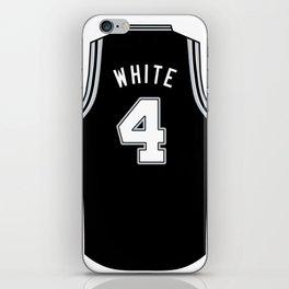 Derrick White Jersey iPhone Skin