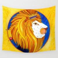 leo Wall Tapestries featuring Leo by Sandra Nascimento