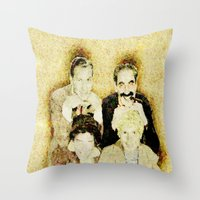 marx Throw Pillows featuring MARX BROTHERS - 004 by Lazy Bones Studios