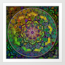 Unfolding Magic Art Print