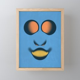 Mr Blue Framed Mini Art Print