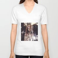 redhead V-neck T-shirts featuring redhead girls by MartaSyrko