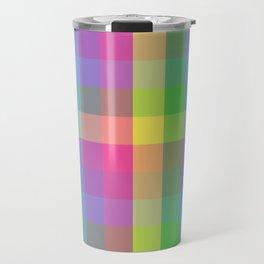 Rainbow check Pattern Travel Mug