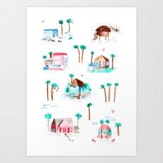 Summer houses Art Print