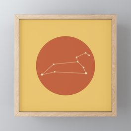 Leo Constellation / Bold Red & Yellow Framed Mini Art Print