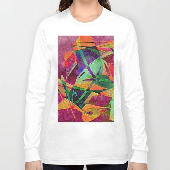 """ Rainbow bird  ""  Long Sleeve T-shirt"