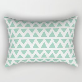 Shapes Nr.1 - Teal Triangles Pattern Rectangular Pillow