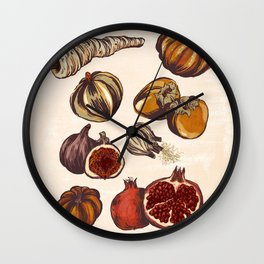 Fall Produce Wall Clock