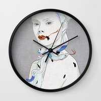snake Wall Clocks featuring SNAKE by SEVENTRAPS