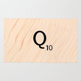 Scrabble Letter Q - Large Scrabble Tiles Rug
