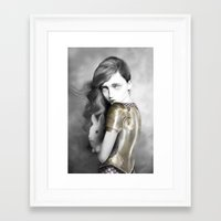 alice x zhang Framed Art Prints featuring Alice by Elena Mir