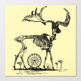 Gas Mask Deer Canvas Print