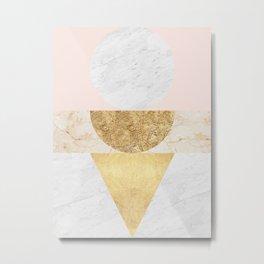 Gold Geometry V Metal Print