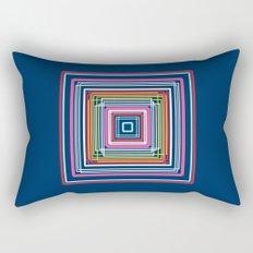 Geometric Squares Mandala in Vintage Neon Colors Rectangular Pillow