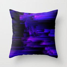 Ultraviolet Light Speed - Abstract Glitch Pixel Art Throw Pillow