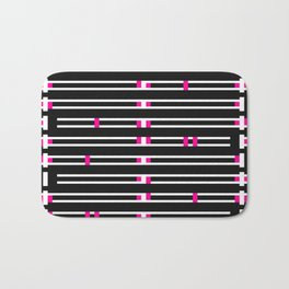 Licorice Bytes, No.9 in Black and Pink Bath Mat