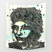 dylan Wall Tapestries featuring Bob Dylan #2 by Travis Poston