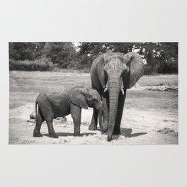Elephant Mom & Baby Rug
