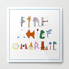 Fire Chief Charlie Letters Metal Print