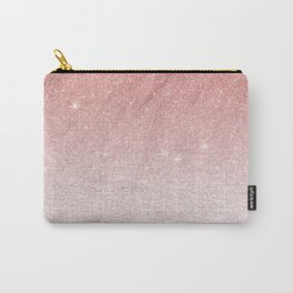 Elegant blush pink faux glitter ombre gradient pattern Carry-All Pouch