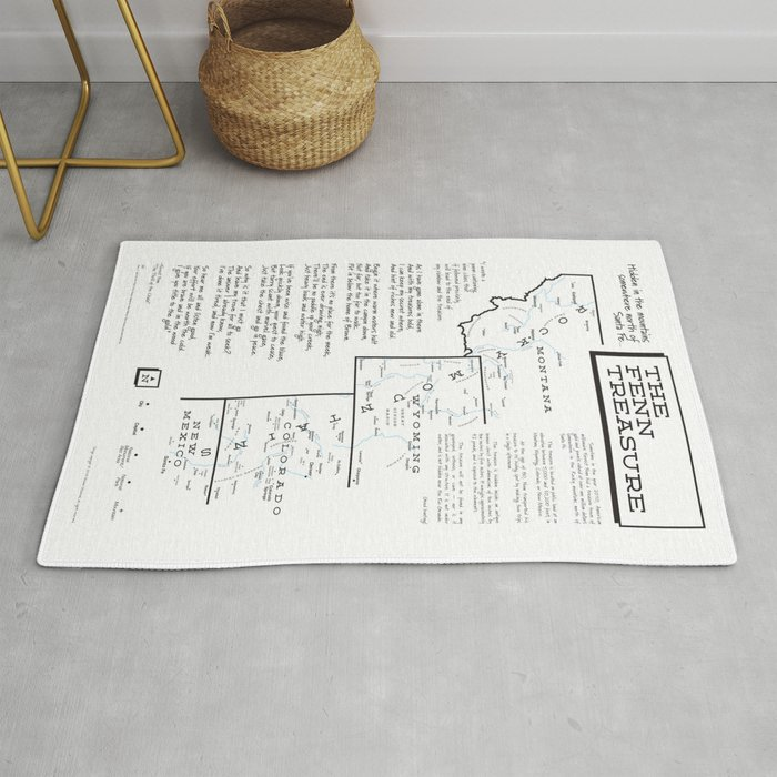 Fenn Treasure Map Infographic Rug by tpitman