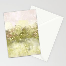 Choppy Soft Pink and Deep Yellow Ocean Water Stationery Cards