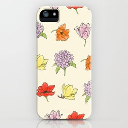 modern floral iPhone Case