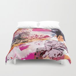 7: a vibrant abstract in jewel tones Duvet Cover