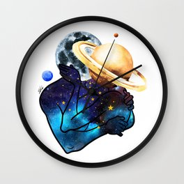 Planets love. Wall Clock