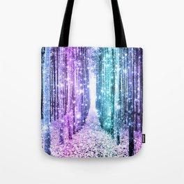 9f9b0c29c Magical Forest Lavender Aqua Teal Ombre Tote Bag
